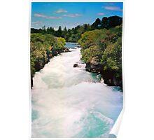 Haku Falls New Zealand Poster