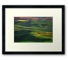 Sunset on the Palouse Framed Print