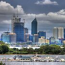 Perth city and the Swan river by BigAndRed
