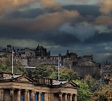 A Huge Storm Looms Over Edinburgh Castle by Sandra Cockayne