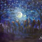X mas caroling in the moonlight by mkumundan