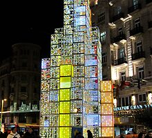 Christmas tree of light cubes by mishainmadrid