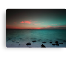 Paradise  at sunrise Canvas Print