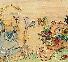 Garden Teddies by Pam Amos