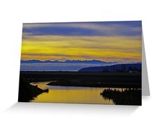 sunset over the olympics Greeting Card