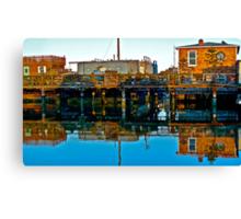 Houseboats, Gate 6, Sausalito, California, USA Canvas Print
