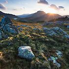 Sunset over Green & Great Gable by toonartist