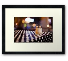 salt, pepper and white dots Framed Print