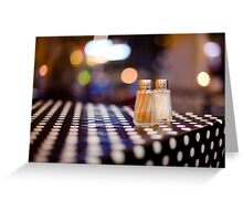 salt, pepper and white dots Greeting Card