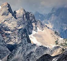 The Julian Alps from Mala Mojstrovka Slovenia by toonartist