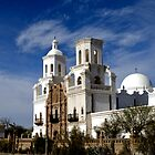 Mission San Xavier del Bac by Angela Pritchard