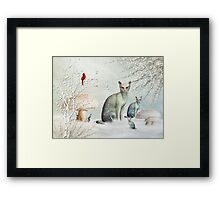 The Winter Cats Framed Print