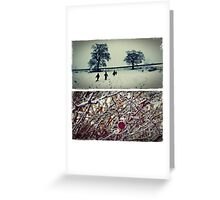 Goodbye England | covered in snow Greeting Card
