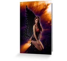 Kneeling Fairy enjoying the sunshine Greeting Card