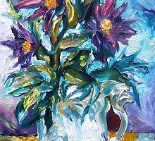 Flowers Against a Frozen Windowpane by Barbara Sparhawk