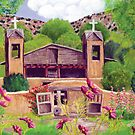 Chimayo New Mexico Church Card by Barbara Applegate