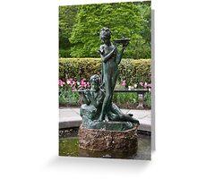 The Secret Garden Fountain Greeting Card