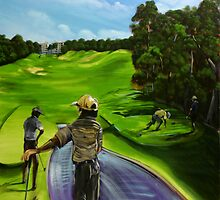 The 9th tee Twin Waters  by robert (bob) gammage
