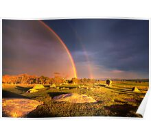 Rainbow 2 - Dog Rocks Poster