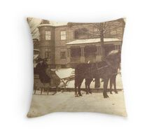 A Late-Victorian Winter ~ Tonawanda, NY Throw Pillow