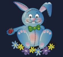 Cute Blue Bunny Tee by walstraasart