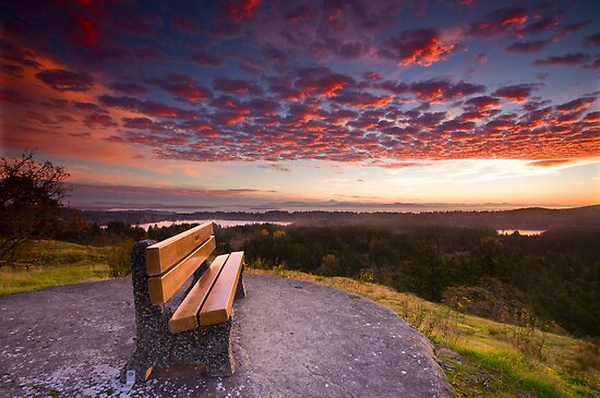 Sunrise Bench by Don Guindon