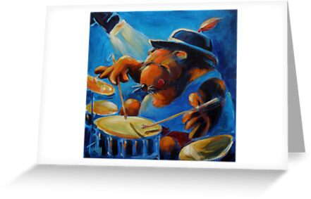 and Wombat plays the drums! by Brian Tisdall