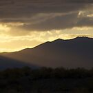 hazy sunset by Bonnie Pelton