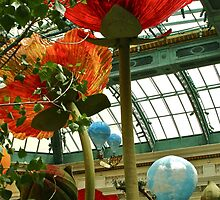 Stained Glass Flowers at Bellagio Hotel Conservatory by jamsicle