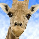 &quot;Funny Face&quot; - Giraffe giving a very animated smiling face by John Hartung