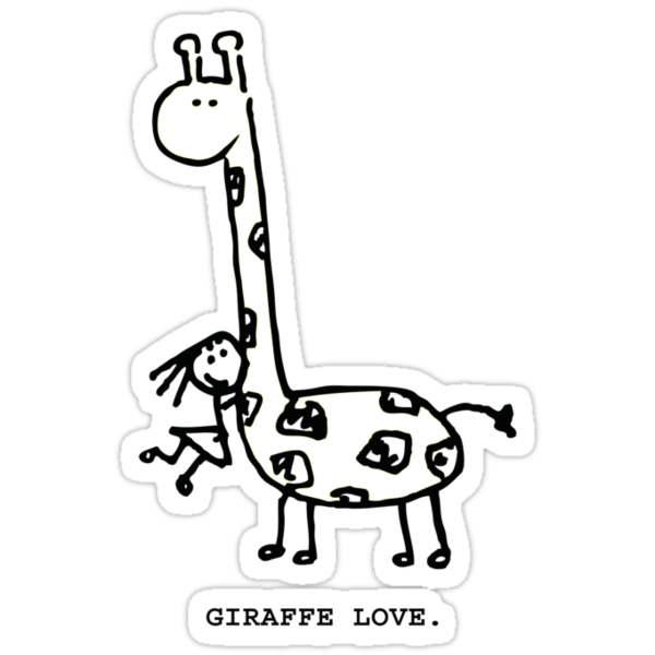 Giraffe Love. by mog2910