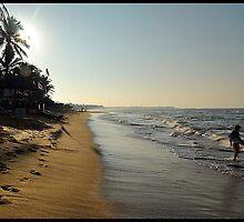 Hikkaduwa Beach by Hiran Maddumage