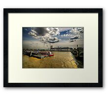 River Thames, London Framed Print