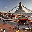 Bodnath Stupa by Peter Hammer