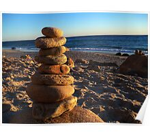 Pebbles - Martha's Vineyard Gay Head Beach Poster