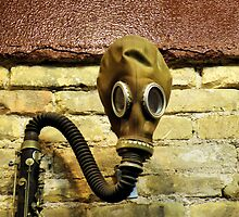 Gas Mask With Clarinet by SuddenJim