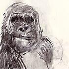 Bemused Gorilla Girl by WoolleyWorld