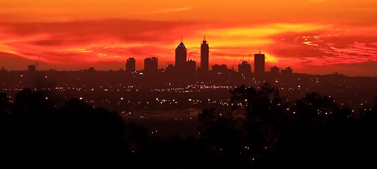 Sunset over Perth  by Andy and Von Quinn