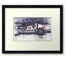 Mercedes W25C MonacoGP 1936 Manfred von Brauchitsch Framed Print