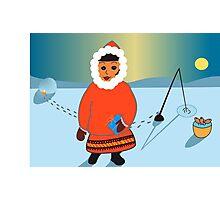 Lapland Christmas Card Photographic Print