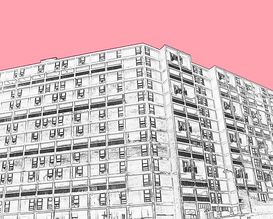 Park Hill Sheffield Pink by sidfletcher