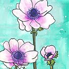 Purple Anemones by Alexandra Felgate