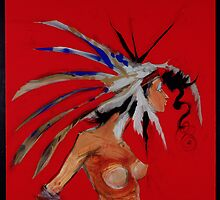 Sioux Woman by Cordell Cordaro