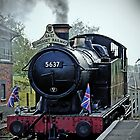 Steam train at Cranmore station, Shepton Mallet, Somerset, England, UK by buttonpresser