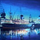 Night dockscene by WILT