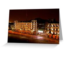 tail lights in mexico Greeting Card