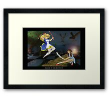 Alice v. Dorothy Framed Print