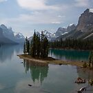 Maligne lake Spirit Island by Carol Bock