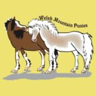 Welsh Mountain Ponies tee by Diana-Lee Saville