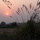 India sunset by Karen  Rubeiz